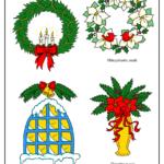 Pine wreath, poinsettia wreath, snowy window, poinsettia display