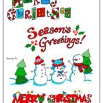 Merry Christmas lettering, Season