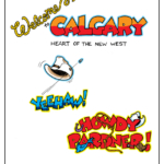 Calgary Stampede lettering, Yeehaw, Howdy Pardner