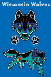 Paintball team jersey design - Client: Wisconsin Wolves